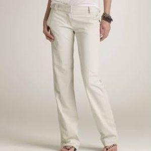 j crew white favorite fit womens pants size 4